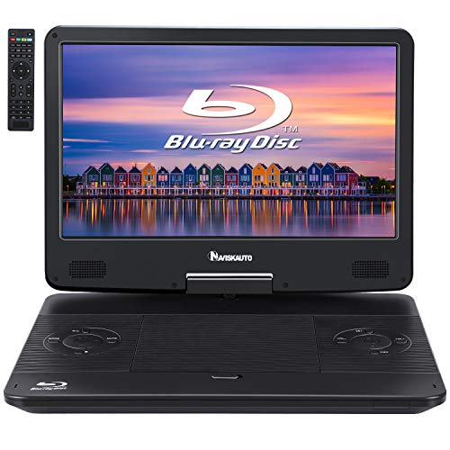 "NAVISKAUTO 14"" Portable Blu-Ray DVD Player with Built-in Rechargeable Battery"