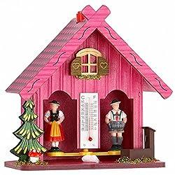 German Black Forest weather house pink TU 894 pink