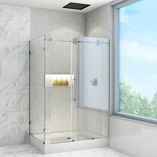 VIGO Winslow 36 x 48-in. Frameless Shower Enclosure with .375-in. Clear Glass and Chrome Hardware (Right Base ()