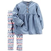 Carter's Baby Girls Playwear 2PC Set Denim Geo Multi 6M