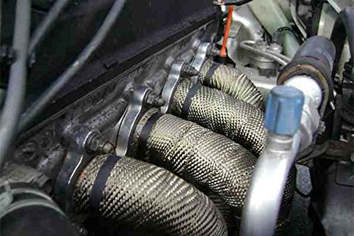 4 Barras de Acero Inoxidable by 10 Metros//5cm//1.5mm NorbertBerkeley Cinta Aislante para Tubo de Escape de Coche y Motocicleta