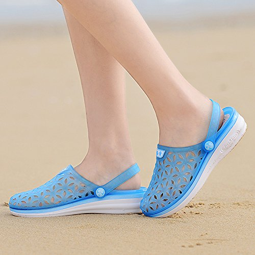 Xing Lin Flip Flop De La Playa Los Hombres Del Agujero De Verano Zapatos Zapatillas Calzado De Playa De Moda La Mitad Femenina Zapatillas Sandalias De Tamaño Grande De Parejas 235-2 Tian Lan new