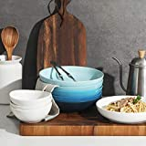 SWEEJAR Ceramic Pasta Bowls Set, 22 OZ for