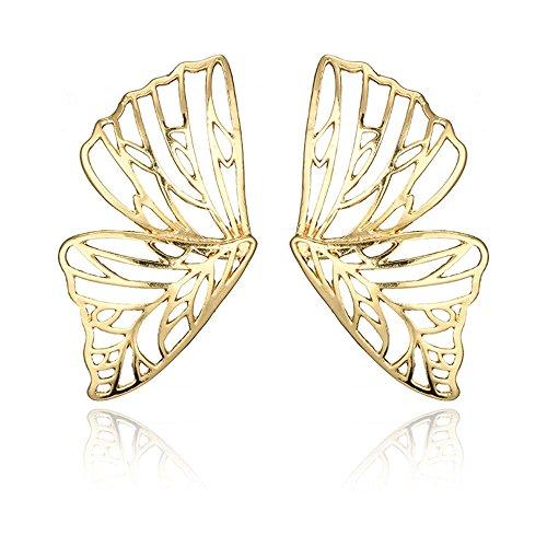 (Trendy Big Hollow Butterfly Drop Dangle Earring for Women Girls Metal Geometric Pendant Earrings)