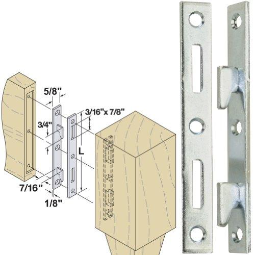 "Woodtek 164219, Hardware, Furniture, Bed Hardware, 6"" Bed Rail Fastener Clear Zinc, 4 Pair"