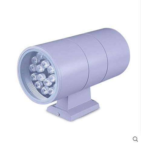 Lámpara de pared de doble cabeza exterior led proyector ...