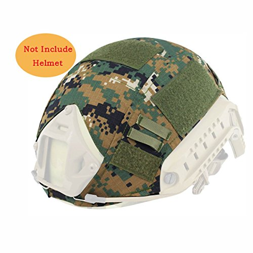 H World Shopping Outdoor Airsoft Paintball Tactical Military Gear Combat Fast Helmet Cover AOR2 by H World Shopping