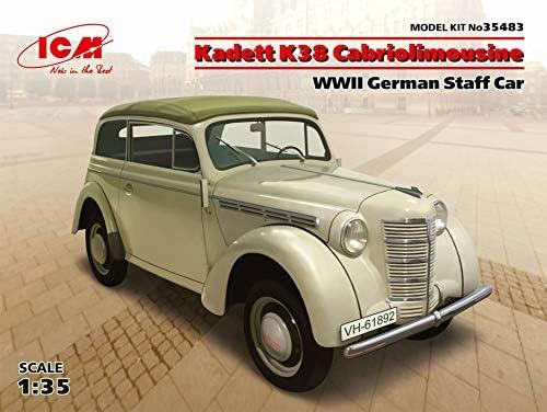 ICM 35483 Kadett K38 カブリオリムジン第二次世界大戦ドイツスタッフカー 1/35スケール プラモデルキット