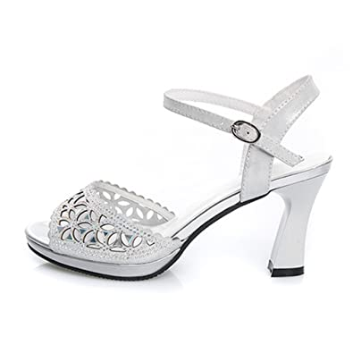 Sandale Talon Étanche Chaussure Dentelle Carré Bout Femme Ouvert iZPkXu