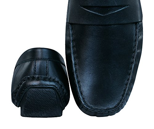 Red Loafers Cranfield Hommes Cuir chaussures Black En Tape Tx4q61wTf