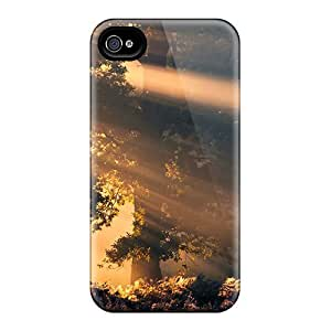 New Style AbbyRoseBabiak Hard Cases Covers For Iphone 6- Sun Rays In Forest