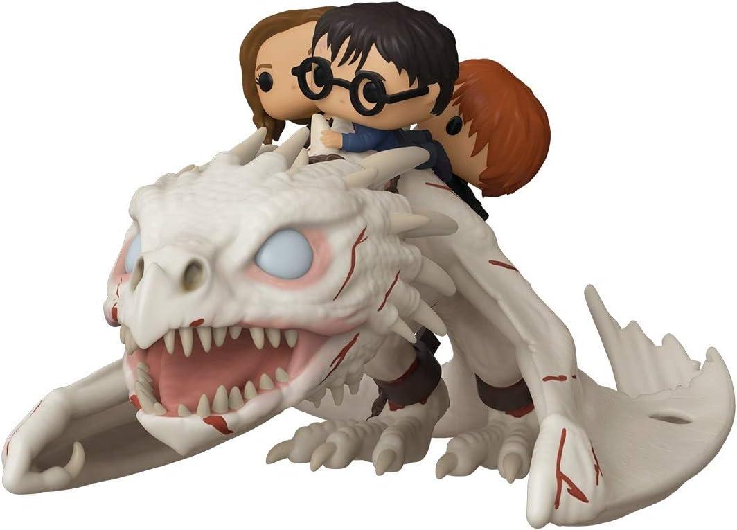 Funko Pop! Rides: Harry Potter - Gringotts Dragon with Harry, Ron, and Hermione, Vinyl Figure