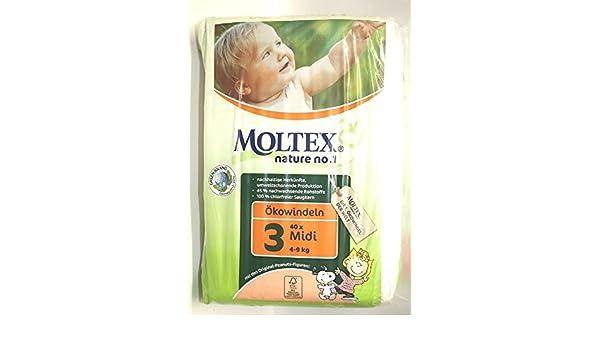 Moltex - Pri 5925 - Pañales desechables - Pañales eco 4 - 9 kg Midi - 42: Amazon.es: Salud y cuidado personal