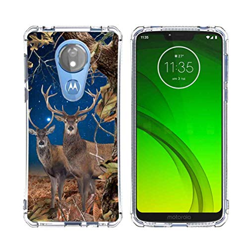 for Moto G7 Power Camo Case, Moto G7 Supra Camo Case, BAYKE Slim Flexible TPU Bumper Cushion Protective Cover with Reinforced Corners for Motorola Moto G7 Power Camo Case