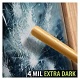 BDF S4MB05 Window Film Security and Privacy 4 Mil Black 5 (Very Dark) - 36in X 50ft