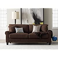 Serta Deep Seating Copenhagen 73' Sofa in Windsor Brown