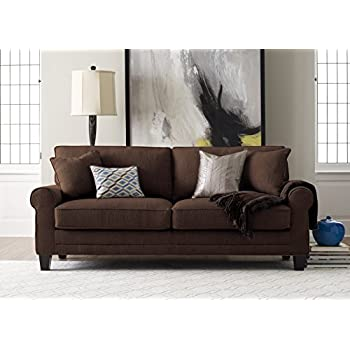 Magnificent Serta Copenhagen 78 Sofa Windsor Brown Machost Co Dining Chair Design Ideas Machostcouk