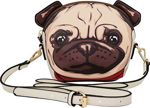 Used, B BRENTANO Vegan Cute Pug Animal 3-D Ear Crossbody for sale  Delivered anywhere in USA