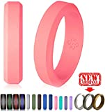 Cheap Knot Theory Pink Silicone Wedding Ring for Women Size 9 – Ultra Comfortable, Slim, Elegant 6mm Band – Hypoallergenic Antifungal Silicone Rubber Rings – Premium Quality, Style, Safety, Comfort