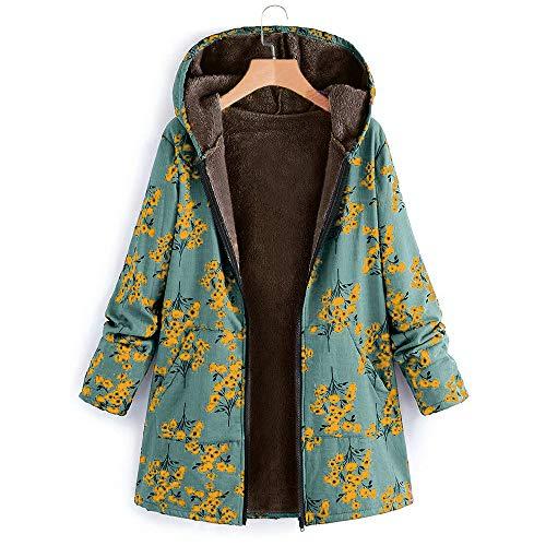 Taille Manteau Épais Vert4 Manteau Femme Vintage Magiyard Manteau Grande glissière Polaire Femme Manteau Hiver en à Manteau Ethnique 6BwOq6xTX
