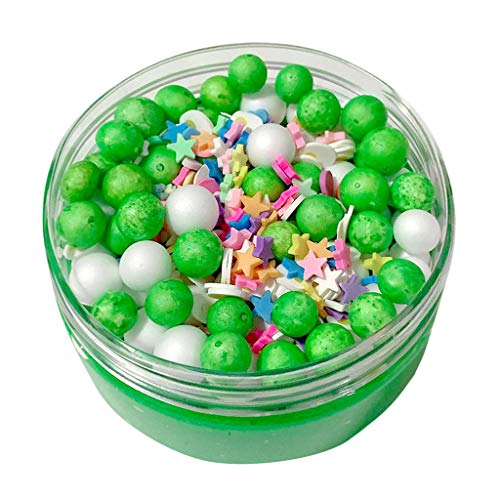 BODOAO Slime Cute Foam Beads Crunch Cotton Candy Glossy Slime Kids Relief Stress Toys Gift