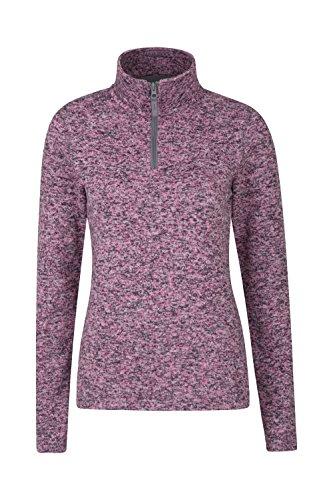 Mountain Warehouse Idris Womens Fleece Jacket - Half Zip Ladies Coat Pink - Ladies Warehouse