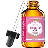 Rosehip Seed Oil by Leven Rose - 100% Pure Organic Unrefined Cold Pressed Anti Aging Moisturizer for Hair Skin and Nails - 30 ml