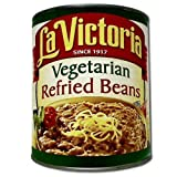 La Victoria Vegetarian Refried Beans - no. 10 can, 6 cans per case