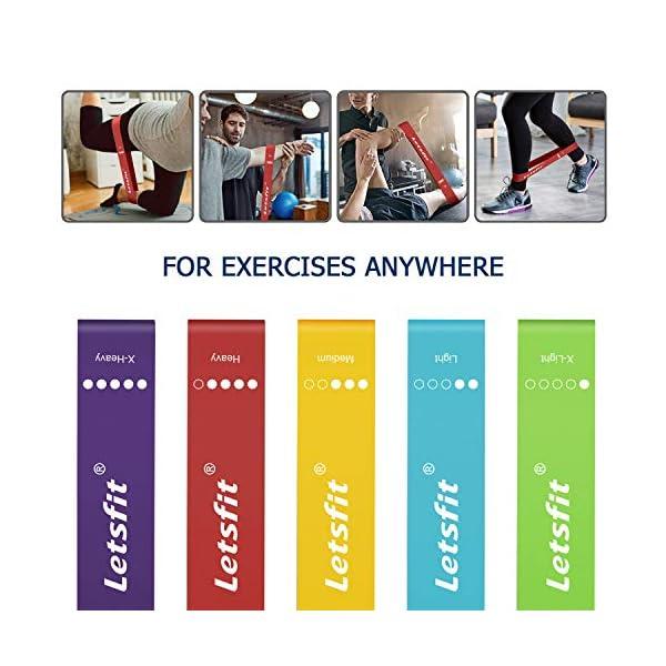 Resistance Exercise Bands For Home Fitness Letsfit Resistance Loop Bands Stret