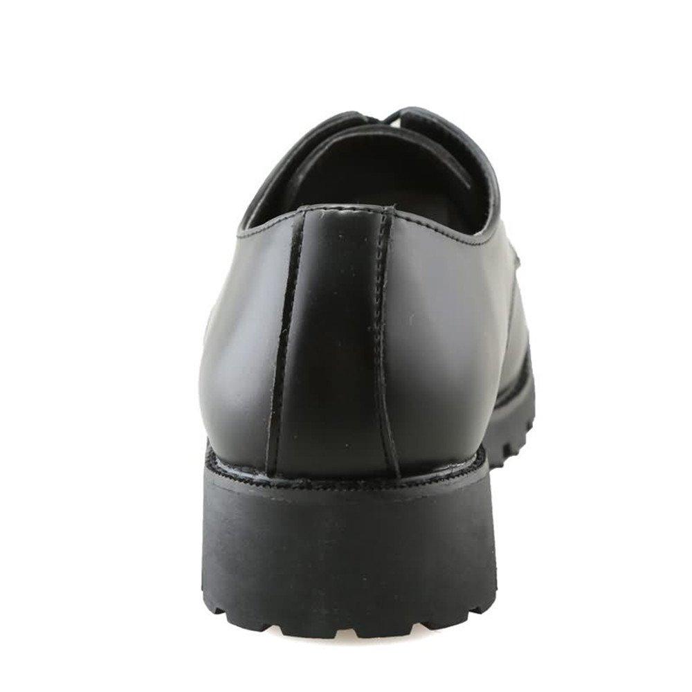 Für die neue Mode Zehe 2018 Männer Arbeitssicherheit Spitz Zehe Mode Volltonfarbe Lace up Freizeitschuhe Schwarz eef0b1