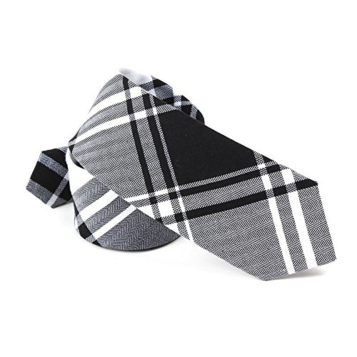 ton Skinny Necktie Plaid Stripes Narrow Tie (Plaid Narrow Tie)