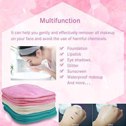"NATWAG   Reusable Update Makeup Remover Microfiber Cloth for Sensitive Skin   Microfiber Face Cloth Makeup Remover   Washable Makeup Remover Towels   Natural Facial Cleansing Towels (6""x 6"", 12 Pack, Assorted)"