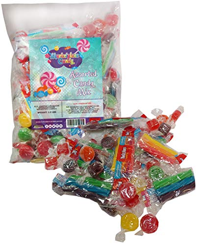 Cheap Assorted Bulk Candy For Events 2.5 LBS - Events Candy For Pinatas OR Halloween, Christmas, Birthdays or Any Other Events or Party - Individually Wrapped Candy For Pinatas