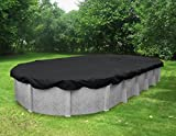 Pool Mate 381833-PM Black Mesh Winter Cover for Oval Above Ground Swimming Pool, 18 x 33'