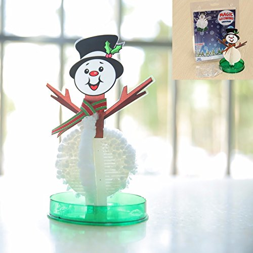 Magic Growing Snowman - Magic Growing Snowman Blossom Paper Tree Blossom Paper Art Kids Educational Toy Decor by DOM -Magic Growing ()