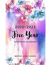 2020-2024 Monthly Pocket Planner: 5 Year Appointment Calendar   60 Months Planner   Agenda Schedule   Organizer Notebook  Daily Planner Time Management