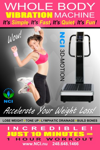 NCI Whole Body Vibration Machine 3D MOTION by Commercial (2HP, 440 lbs), Dual Motor, Large Vibrating Platform, USB Programmable
