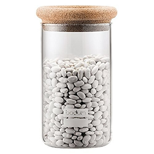 Bodum 8600-109-2 Yohki Storage Jar with Cork Lid, 1 L/34 oz, Cork