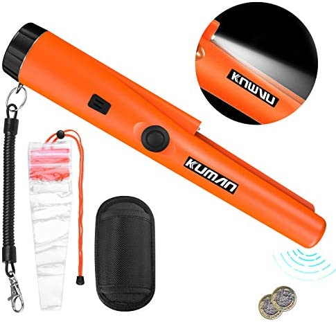 Kuman Pin Pointer Metal Detectors Finder with Holster Waterproof Treasure Hunting Tool Accessories
