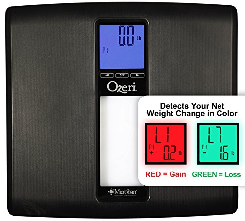 Bathroom Scale 440 Lb (Ozeri ZB20 WeightMaster II 440 lbs Digital Bath Scale with BMI and Weight Change Detection, Black)
