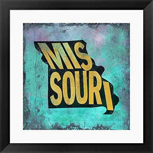 - Missouri by Art Licensing Studio Fine Art Print with Wood Box Frame and Glass Cover, 20 x 20 inches