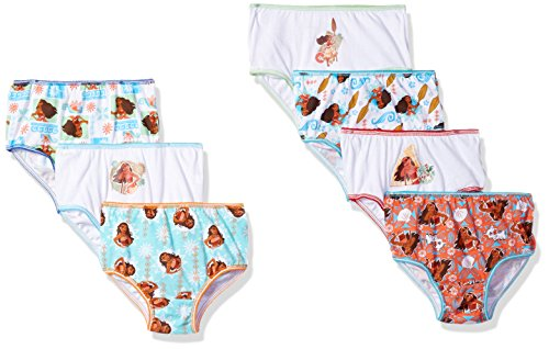 (Disney Toddler Girls' 7-Pack Moana 7pk Bikini Brief Underwear, Moana Toddler-Multi, 2/3T)