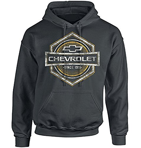 Chevrolet Mens Simple Vintage Bowtie Pullover Hoodie