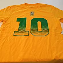 Brazil Soccer Youth Gold Neymar Jr. Name and Number Jersey T-shirt