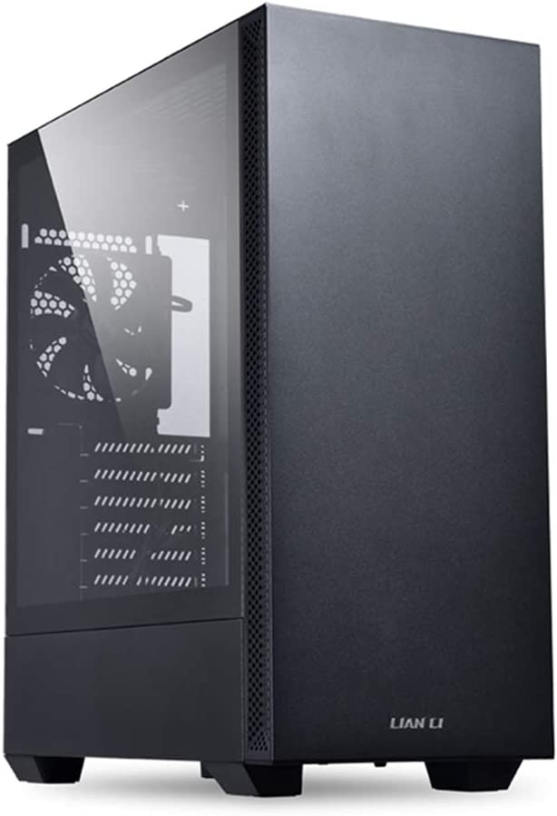 LIAN LI Mid-Tower Chassis ATX Computer Case PC Gaming Case w/Tempered Glass Side Panel, Magnetic Dust Filter,Water-Cooling Ready, Side Ventilation and 2x120mm Fan Pre-Installed (LANCOOL 205, Black)