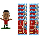 2018 World Cup Panini Adrenalyn Cards 10-Pack & Ronaldo Portugal SoccerStarz Combo