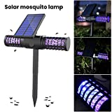 RoJuicy Solar Zapper Mosquito Killer UV LED Lamp Waterproof Solar/USB Charging Automatic Switch Mosquito Ant Fly Bug Lighting