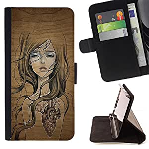 For Sony Xperia Z5 5.2 Inch Smartphone cool nature wood tree soul girl heart pretty Style PU Leather Case Wallet Flip Stand Flap Closure Cover