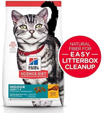 Hill's Science Diet Dry Cat Food, Adult, Indoor, Chicken Recipe
