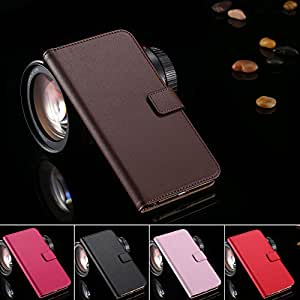 Retro Luxury Stand Wallet Flip Case for iphone6 Plus 5.5 Phone Bags Accessories Cover Genuine Leather for Apple iphone 6 Plus --- Color:Pink